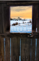 The Barn Window - Winter