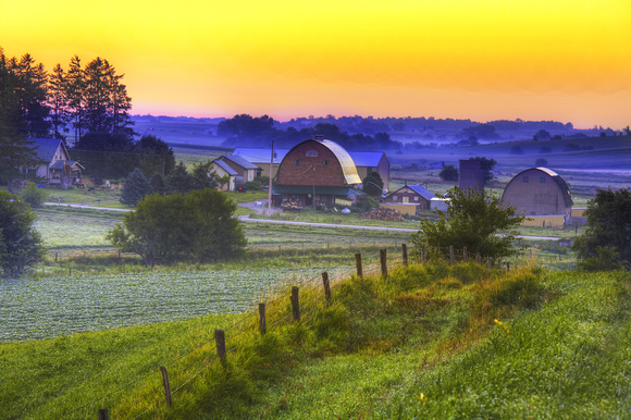 A Country Sunrise - Print